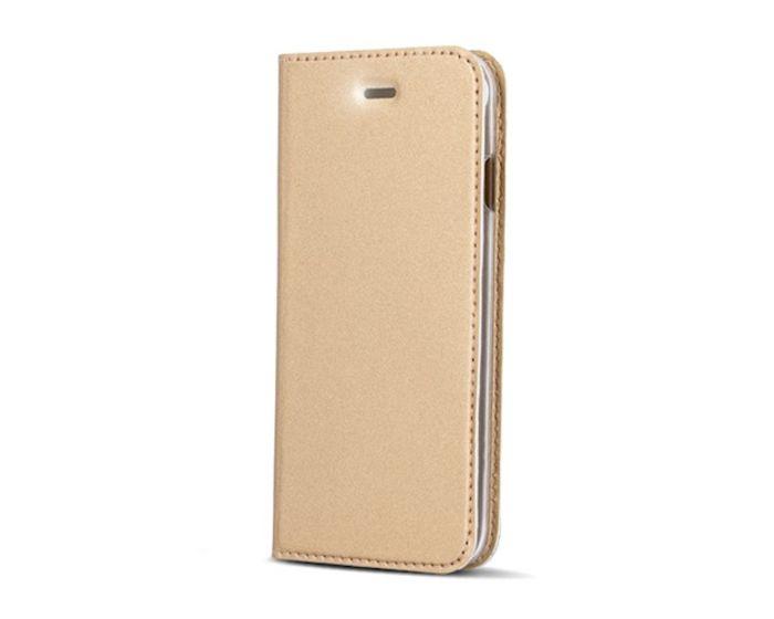 Smart Premium Wallet Case Θήκη Book με Stand - Gold (Huawei Y5 2018 / Y5 Prime 2018)