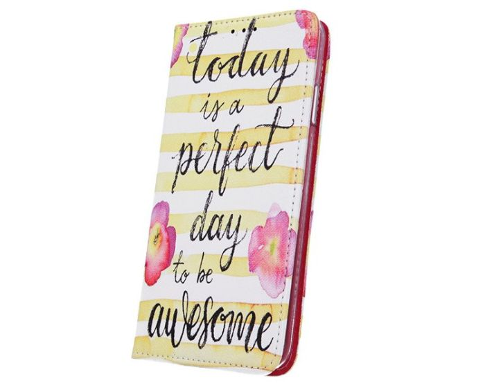Smart Trendy Magnet Wallet Case Θήκη Πορτοφόλι με δυνατότητα Stand Perfect day - Awesome (Samsung Galaxy A20 / A30)