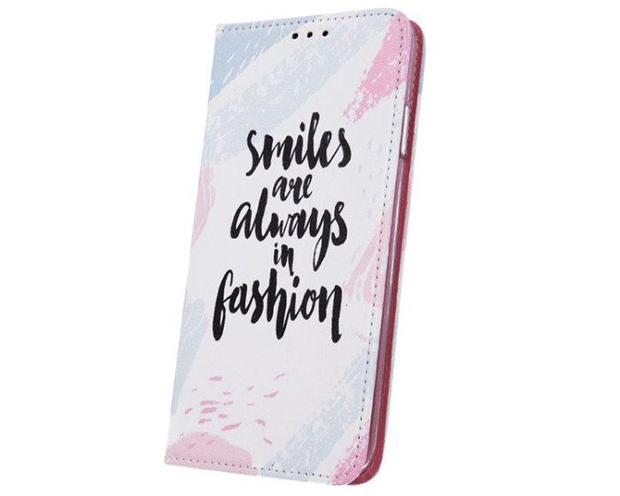 Smart Trendy Magnet Wallet Case Θήκη Πορτοφόλι με δυνατότητα Stand Smiles (Samsung Galaxy A20 / A30)