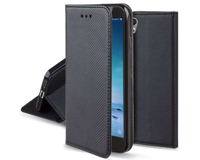 Forcell Smart Book Case με Δυνατότητα Stand Θήκη Πορτοφόλι Μαύρη (Sony Xperia L1)