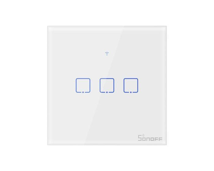 Sonoff T0EU3C-TX Three-channel Smart Switches (IM190314011) Τριπλός Έξυπνος Διακόπτης Αφής - Λευκό