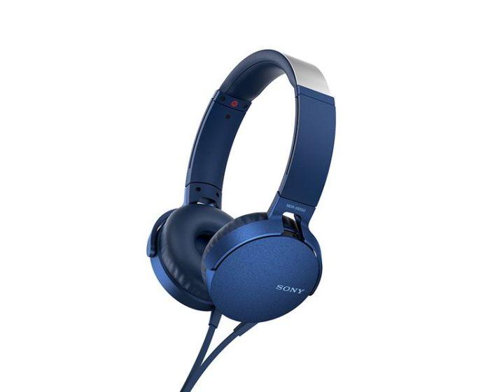 SONY Extrabass Stereo Headphones (MDR-XB550AP) Ενσύρματα Ακουστικά - Blue