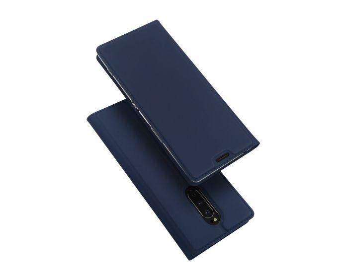 DUX DUCIS SkinPro Wallet Case Θήκη Πορτοφόλι με Stand - Navy Blue (Sony Xperia 1)