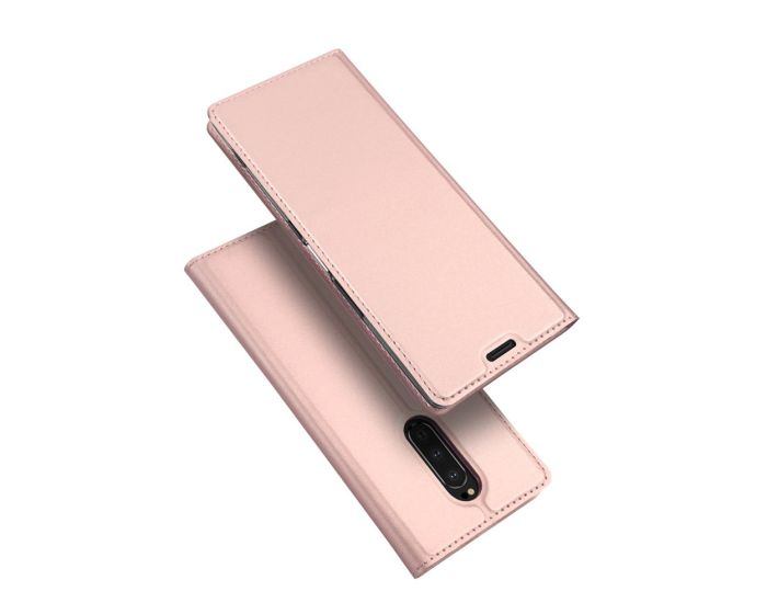 DUX DUCIS SkinPro Wallet Case Θήκη Πορτοφόλι με Stand - Rose Gold (Sony Xperia 1)