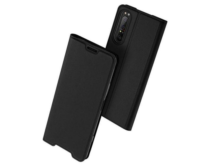 DUX DUCIS SkinPro Wallet Case Θήκη Πορτοφόλι με Stand - Black (Sony Xperia 1 II)