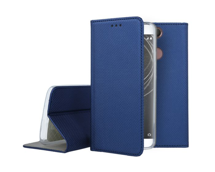 Forcell Smart Book Case με Δυνατότητα Stand Θήκη Πορτοφόλι Navy Blue (Sony Xperia XA2)