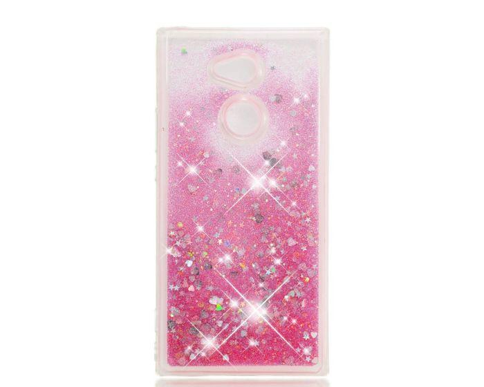 Forcell Liquid Glitter Sand & Stars TPU Case Θήκη με Χρυσόσκονη Pink (Sony Xperia XA2)