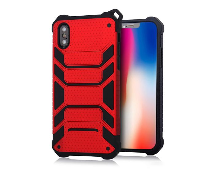 Spider Hybrid Armor Case Rugged Cover Red (iPhone X / Xs)