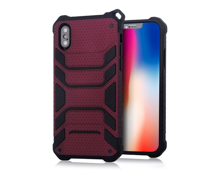 Spider Hybrid Armor Case Rugged Cover Red Wine (iPhone X / Xs)