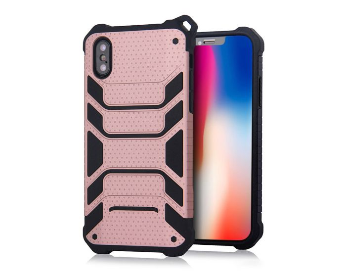 Spider Hybrid Armor Case Rugged Cover Rose Gold (iPhone X / Xs)