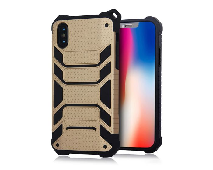 Spider Hybrid Armor Case Rugged Cover Gold (iPhone X / Xs)