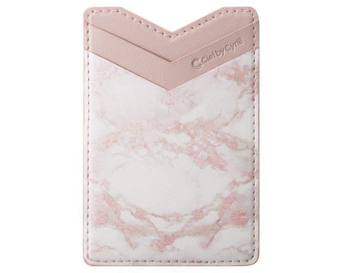 Spigen Cyrill Shine Wallet Αυτοκόλλητη Θήκη Καρτών για Smartphone - Pink Marble