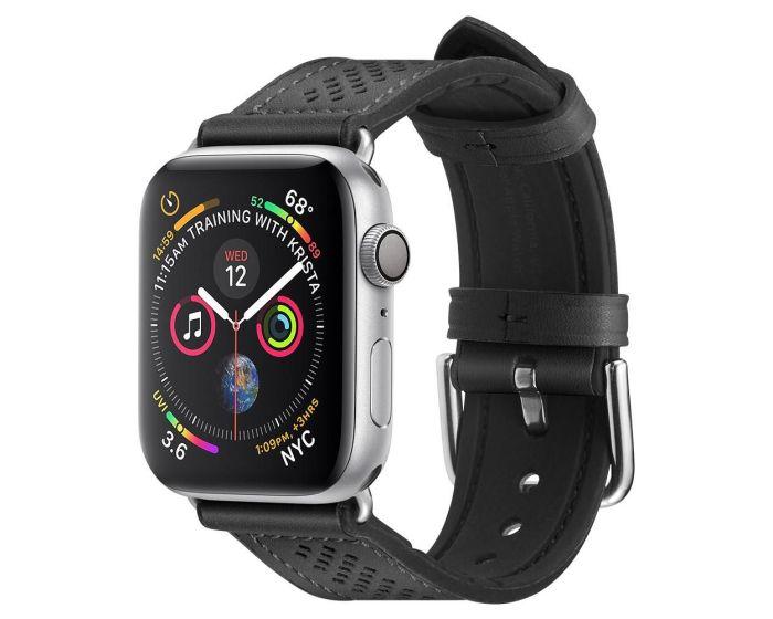 Spigen Retro Fit PU Leather Band (062MP25079) Black - Apple Watch 42/44mm (1/2/3/4/5/6/SE)