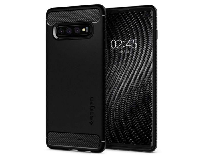 Spigen Rugged Armor Tough Case (605CS25800) Matte Black (Samsung Galaxy S10)
