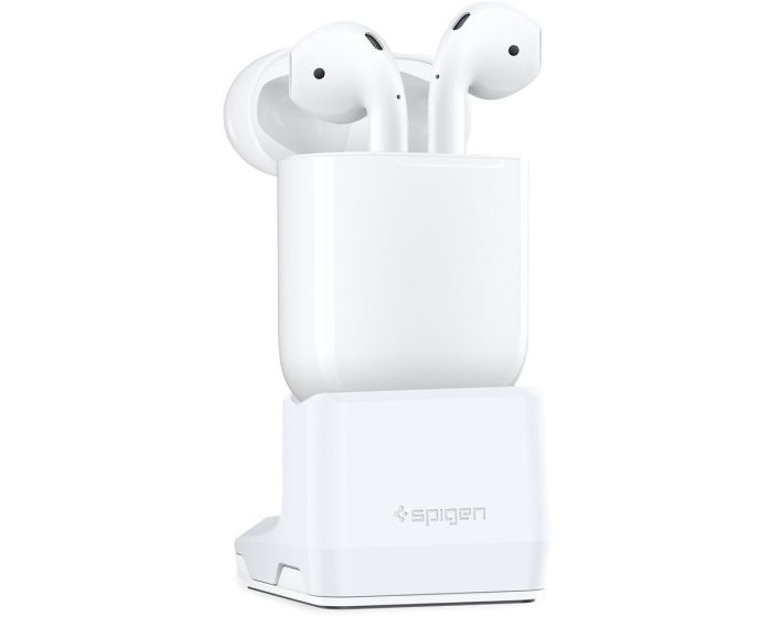 Spigen S313 Airpods Stand (000CD21203) Βάση Φόρτισης για Airpods - White
