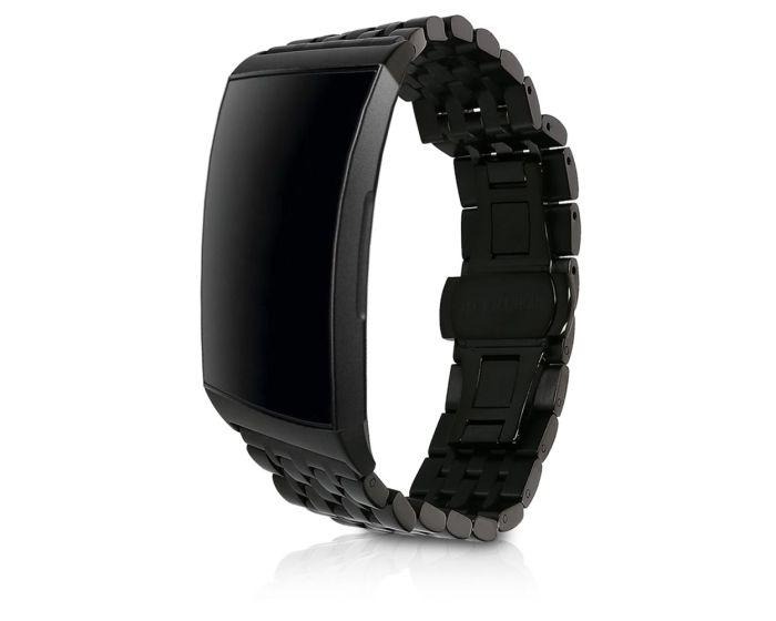 KWmobile Stainless Steel Bracelet (46805.01) Ανταλλακτικό Λουράκι Black (Fitbit Charge 3)