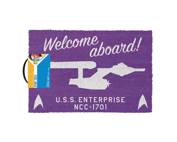 Star Trek (Welcome Aboard!) Door Mat - Πατάκι Εισόδου 40x60cm