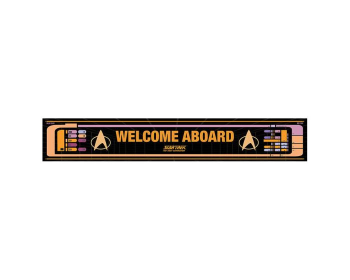Star Trek (Welcome aboard) Wooden Sign - Ξύλινη Ταμπέλα Διακόσμησης 13x80cm