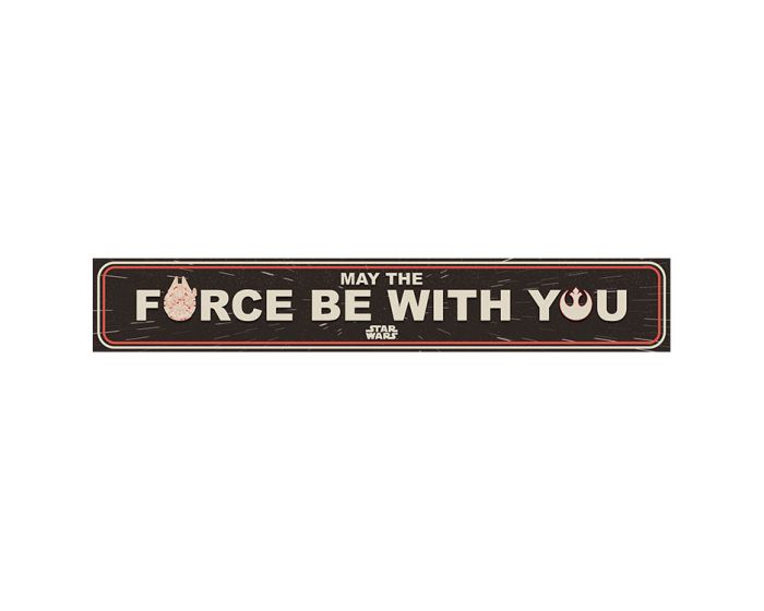 Star Wars (May The Force Be With You) Wooden Sign - Ξύλινη Ταμπέλα Διακόσμησης 13x80cm