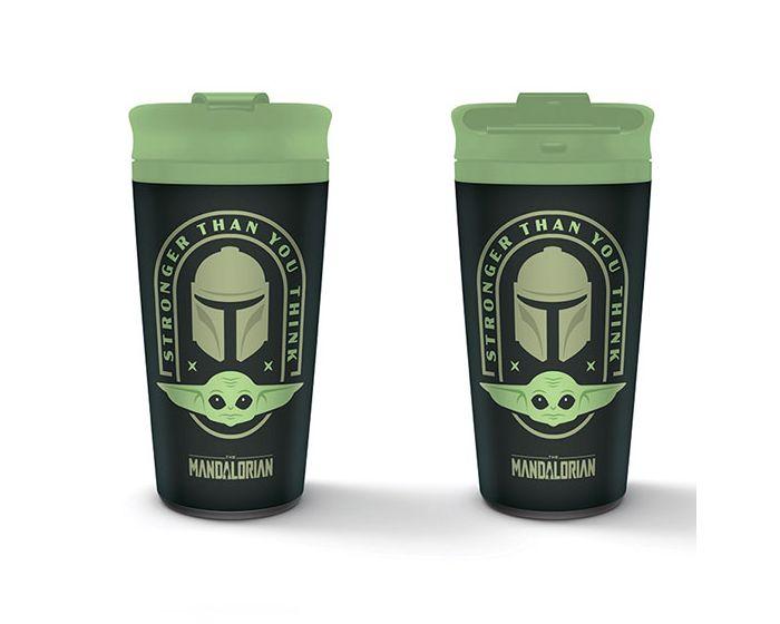 Star Wars: The Mandalorian Metal Travel Mug 450ml Θερμός - Stronger Than You Think