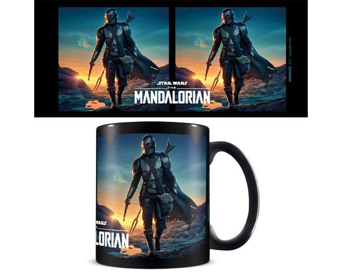 Star Wars: The Mandalorian (Nightfall) Mug 315ml Κεραμική Κούπα - Black