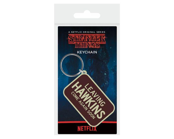 Stranger Things (Leaving Hawkins) Rubber Keychain - Μπρελόκ