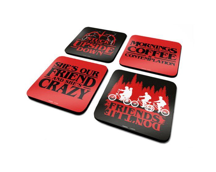 Stranger Things (Phrases) 4 Coaster Set - Σουβέρ 4 Τμχ.