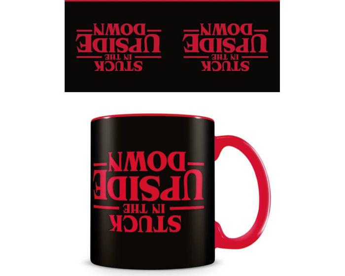 Stranger Things (Stuck In The Upside Down) Mug 315ml Κεραμική Κούπα - Black