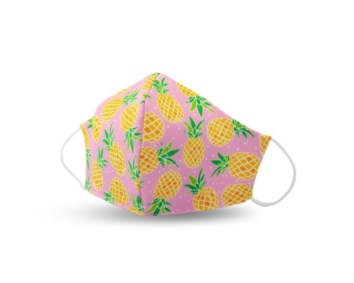 Street Wear Cotton Face Mask Προστατευτική Μάσκα Προσώπου - Pineapple