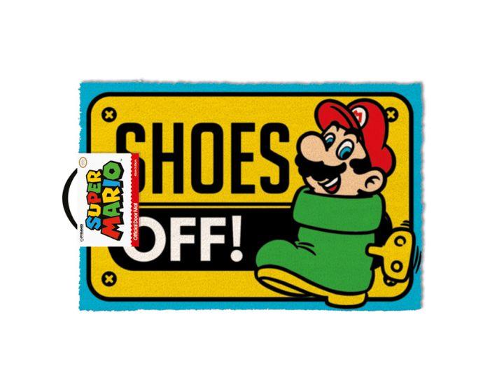 Super Mario (Shoes Off Colour) Door Mat - Πατάκι Εισόδου 40x60cm