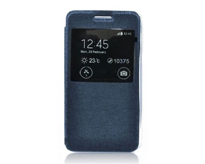 Forcell S View Flexi Flip Case Blue (Sony Xperia E4g)