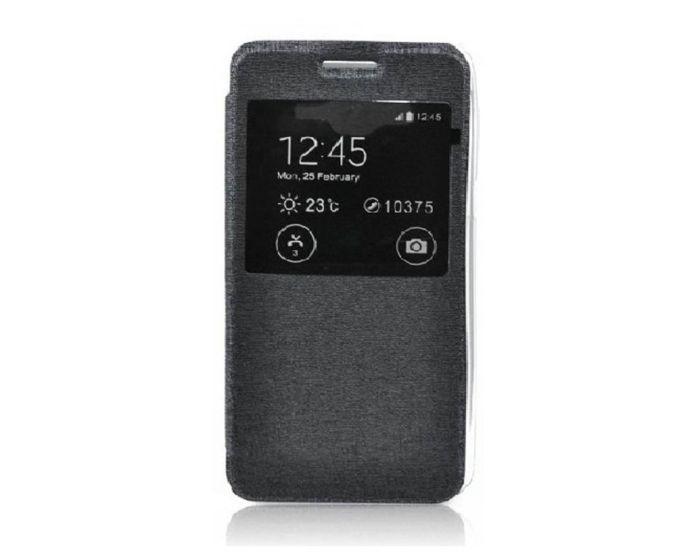 Forcell S View Flexi Flip Case Black (Microsoft Lumia 540)