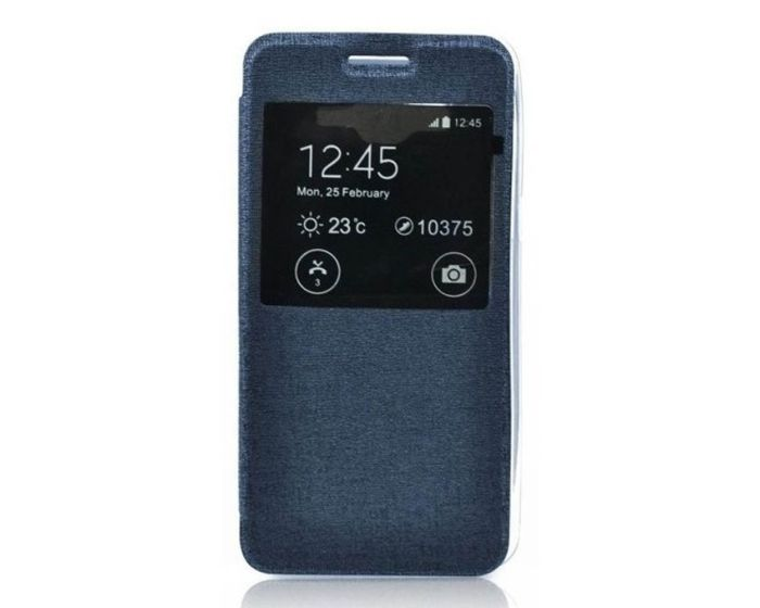 Forcell S View Flexi Flip Case Blue (Microsoft Lumia 540)