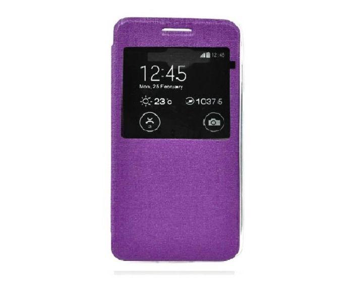 Forcell S View Flexi Flip Case Purple (Microsoft Lumia 540)