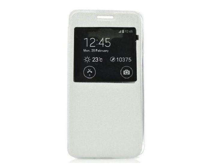 Forcell S View Flexi Flip Case White (Microsoft Lumia 540)