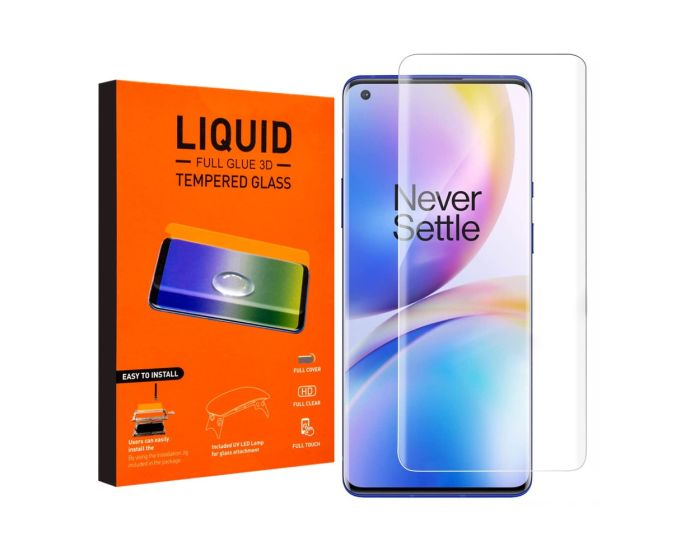 T-MAX Glass (Liquid Dispersion Tech) Full Cover Tempered Glass Replacement (OnePlus 8 Pro)
