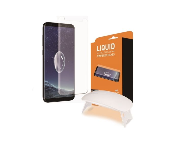 T-MAX Glass (Liquid Dispersion Tech) Full Cover Tempered Glass Screen Protector (Samsung Galaxy S8 Plus)