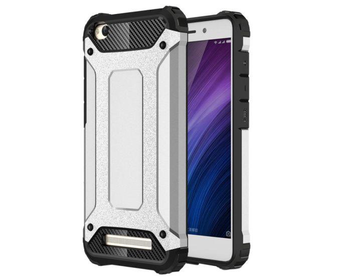 Forcell Hybrid Tech Armor Case Ανθεκτική Θήκη - Ασημί (Xiaomi Redmi 4A)