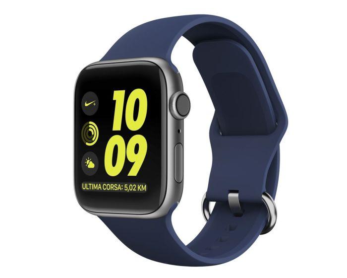 TECH-PROTECT Gearband Blue Λουράκι Σιλικόνης για Apple Watch 42/44mm (1/2/3/4/5/6/SE)