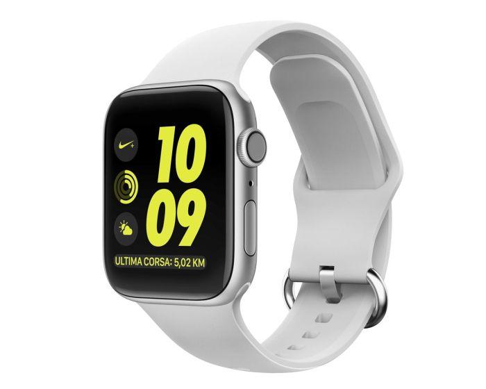 TECH-PROTECT Gearband White Λουράκι Σιλικόνης για Apple Watch 42/44mm (1/2/3/4/5/6/SE)