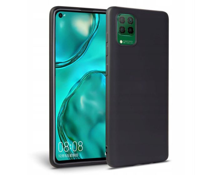 TECH-PROTECT Icon Soft Touch Silicone Case Black (Huawei P40 Lite)