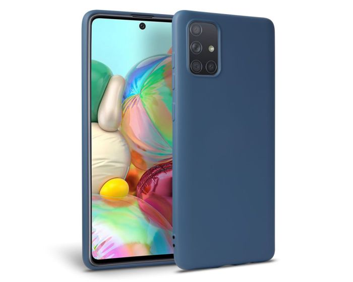 TECH-PROTECT Icon Soft Touch Silicone Case Blue (Samsung Galaxy A51)