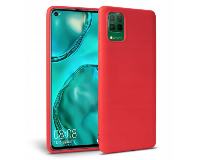 TECH-PROTECT Icon Soft Touch Silicone Case Red (Huawei P40 Lite)