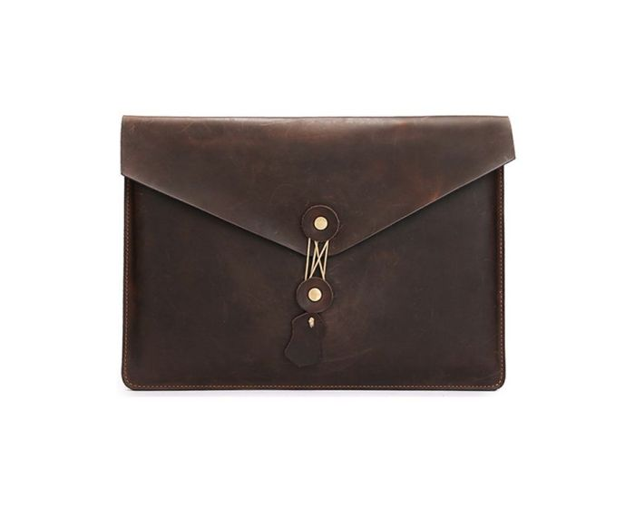 TECH-PROTECT Leather Case Brown (MacBook Air / Pro 13)