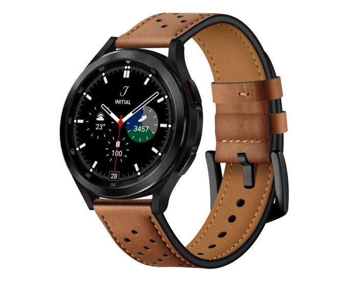 TECH-PROTECT Leather Watch Band Brown για Samsung Galaxy Watch 4 40/42/44/46mm