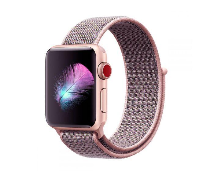 TECH-PROTECT Nylon - Pink Sand - Υφασμάτινο Λουράκι για Apple Watch 38/40mm (1/2/3/4/5/6/SE)