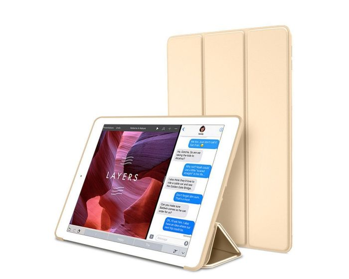 TECH-PROTECT Slim Smart Cover Case με δυνατότητα Stand - Champagne Gold (iPad Air 3 2019)