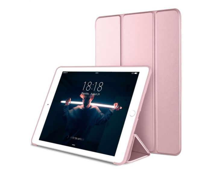 """TECH-PROTECT Slim Smart Cover Case με δυνατότητα Stand - Rose Gold (iPad 9.7"""" 2017 / 2018)"""