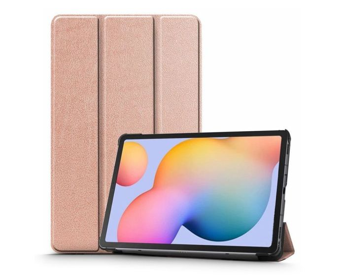 TECH-PROTECT Slim Smart Cover Case με δυνατότητα Stand - Rose Gold (Samsung Galaxy Tab S6 Lite 10.4)