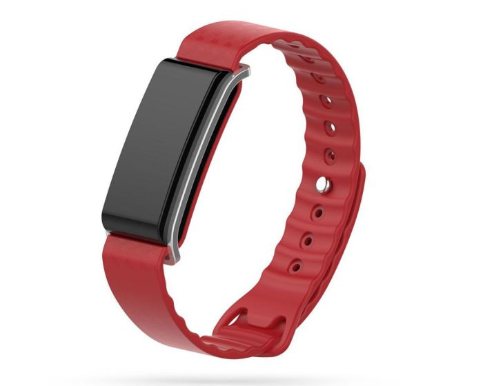 TECH-PROTECT Smoothband - Red - Λουράκι Σιλικόνης για Huawei Band A2